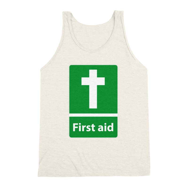 First Aid Cross Men's Triblend Tank by Kelsorian T-shirt Shop
