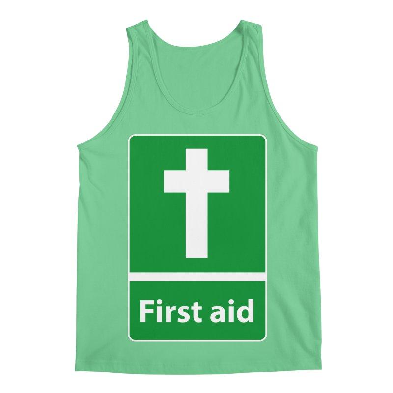 First Aid Cross Men's Regular Tank by Kelsorian T-shirt Shop