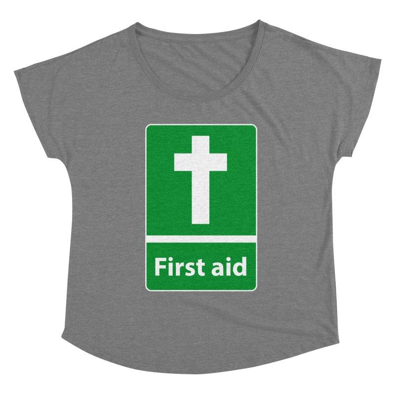 First Aid Cross Women's Scoop Neck by Kelsorian T-shirt Shop