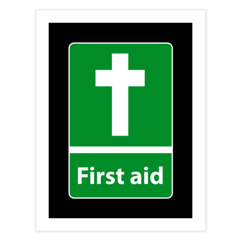 First Aid Cross Home Fine Art Print by Kelsorian T-shirt Shop