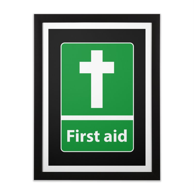 First Aid Cross Home Framed Fine Art Print by Kelsorian T-shirt Shop