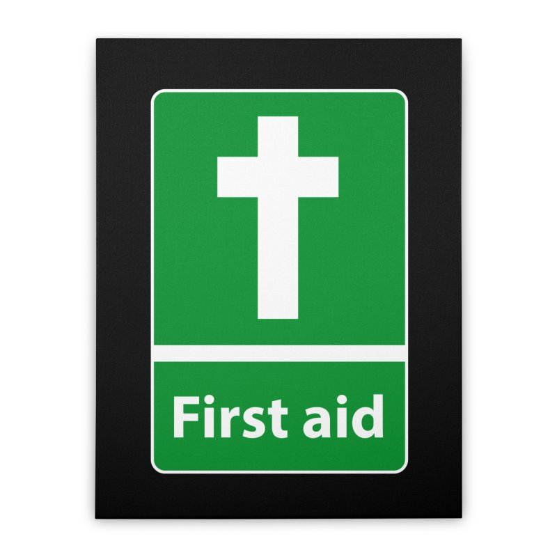 First Aid Cross Home Stretched Canvas by Kelsorian T-shirt Shop