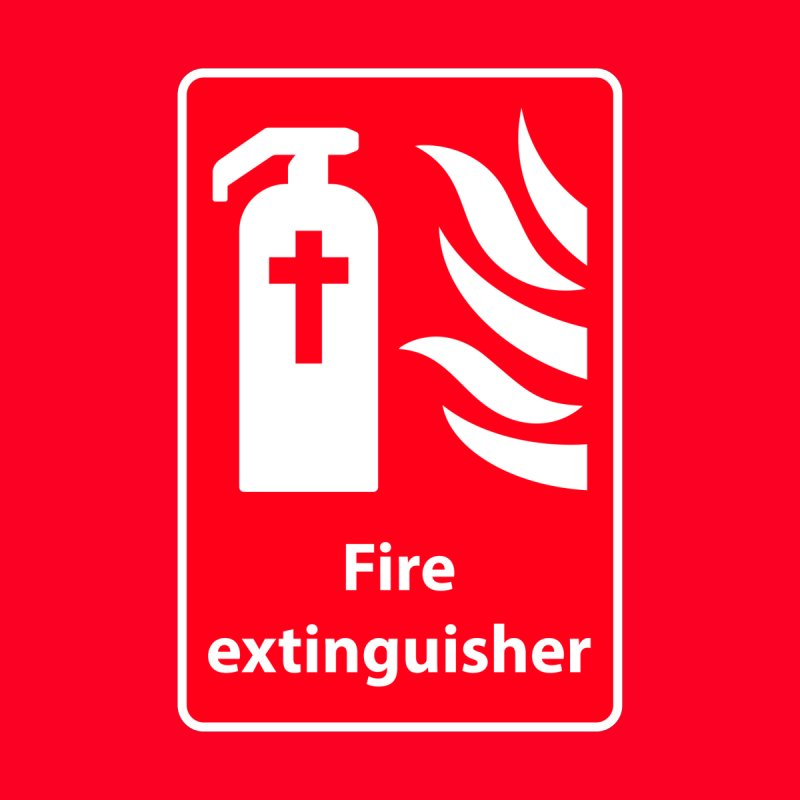 Fire Extinguisher For Hell Women's V-Neck by Kelsorian T-shirt Shop