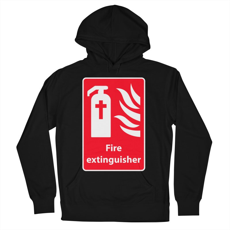 Fire Extinguisher For Hell Men's French Terry Pullover Hoody by Kelsorian T-shirt Shop