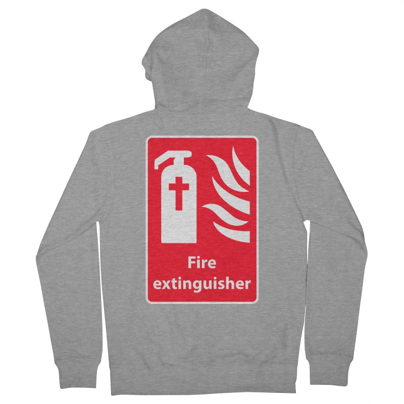 Fire Extinguisher For Hell Women's French Terry Zip-Up Hoody by Kelsorian T-shirt Shop