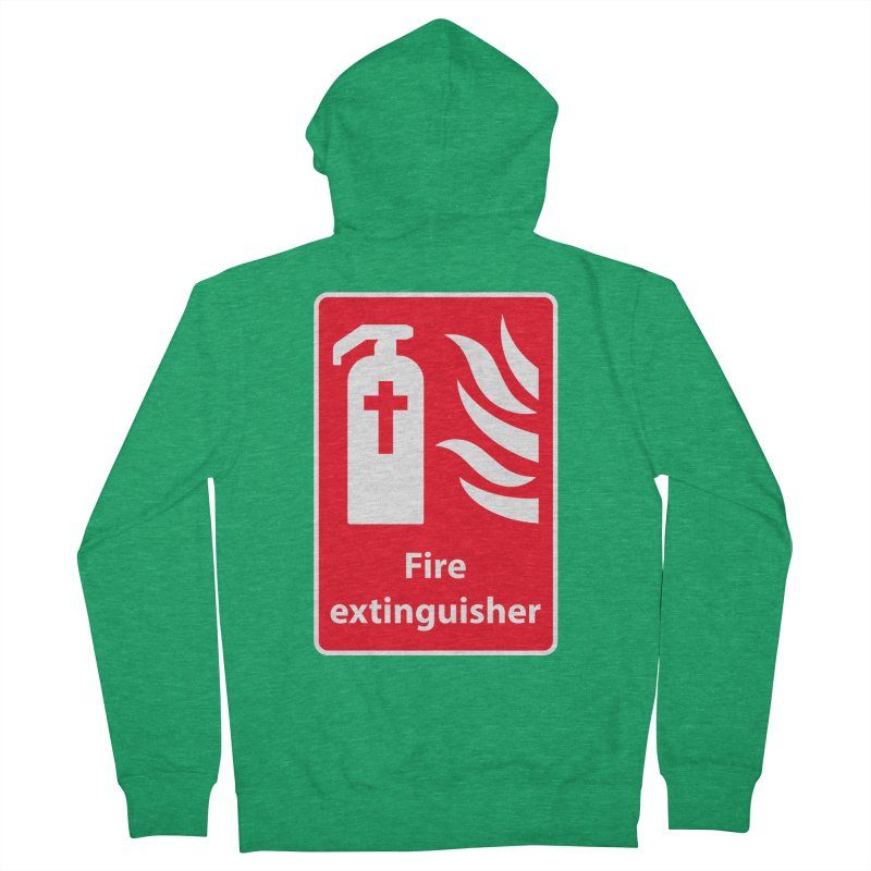 Fire Extinguisher For Hell Men's French Terry Zip-Up Hoody by Kelsorian T-shirt Shop
