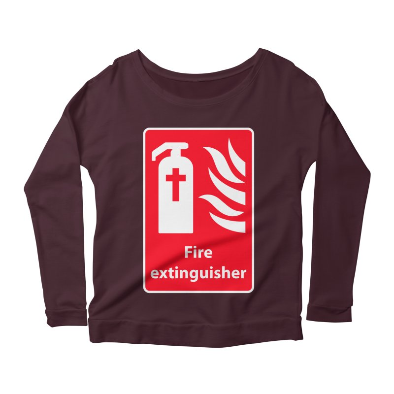 Fire Extinguisher For Hell Women's Longsleeve Scoopneck  by Kelsorian T-shirt Shop