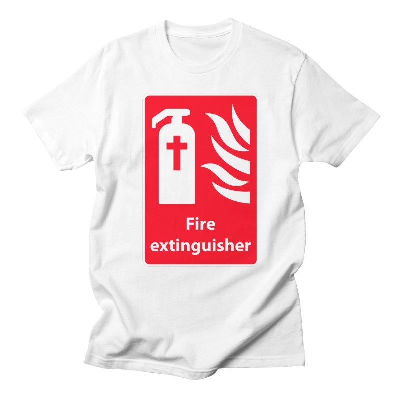 Fire Extinguisher For Hell Men's Regular T-Shirt by Kelsorian T-shirt Shop