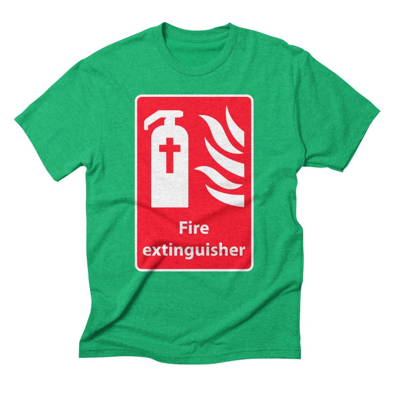 Fire Extinguisher For Hell Men's Triblend T-shirt by Kelsorian T-shirt Shop