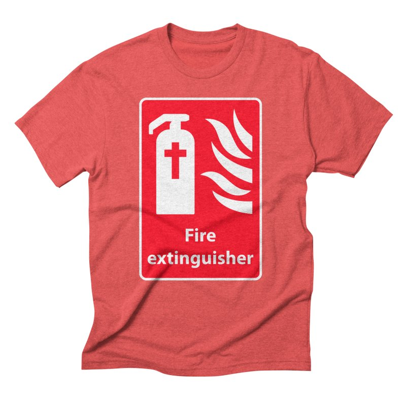 Fire Extinguisher For Hell in Men's Triblend T-Shirt Chili Red by Kelsorian T-shirt Shop