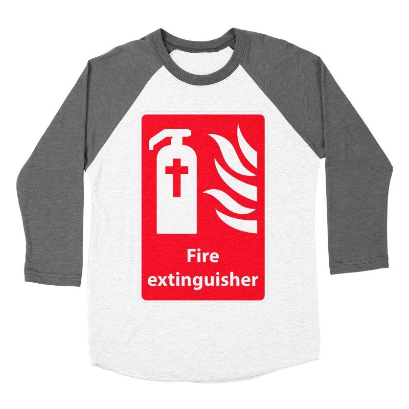 Fire Extinguisher For Hell Women's Baseball Triblend T-Shirt by Kelsorian T-shirt Shop