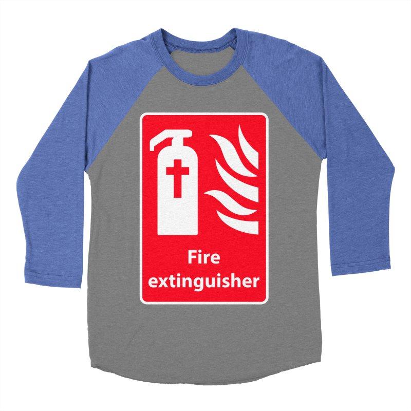 Fire Extinguisher For Hell Men's Baseball Triblend T-Shirt by Kelsorian T-shirt Shop