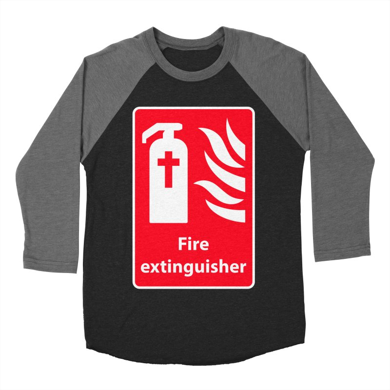 Fire Extinguisher For Hell Men's Baseball Triblend Longsleeve T-Shirt by Kelsorian T-shirt Shop