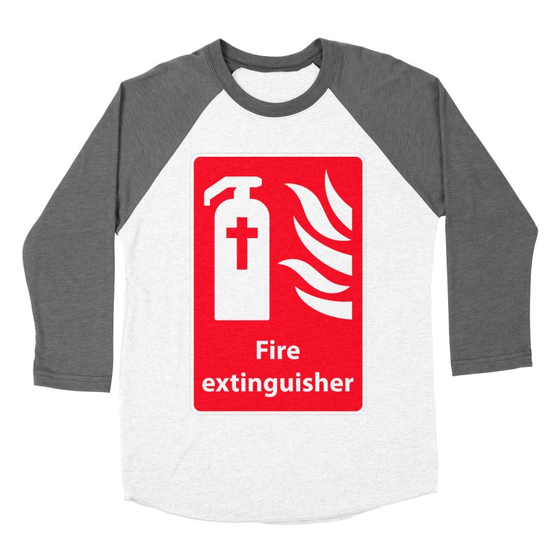 Fire Extinguisher For Hell Men's Baseball Triblend T-Shirt by Kelsorian T-shirt Shop
