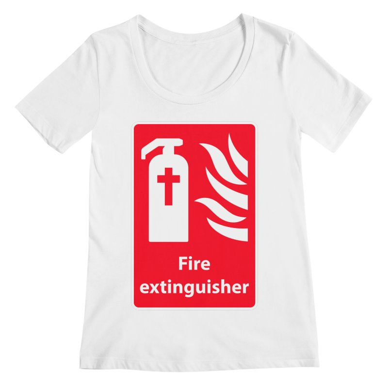 Fire Extinguisher For Hell Women's Regular Scoop Neck by Kelsorian T-shirt Shop