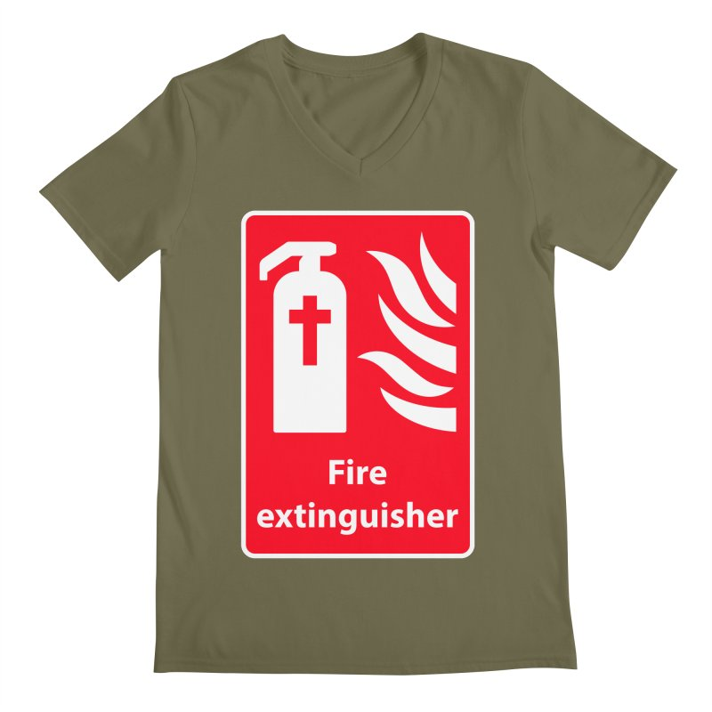 Fire Extinguisher For Hell Men's V-Neck by Kelsorian T-shirt Shop