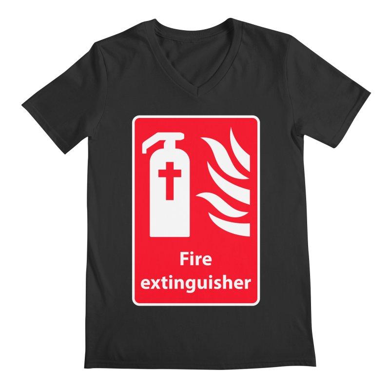 Fire Extinguisher For Hell Men's Regular V-Neck by Kelsorian T-shirt Shop