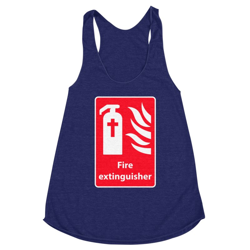Fire Extinguisher For Hell Women's Racerback Triblend Tank by Kelsorian T-shirt Shop