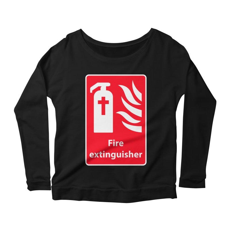 Fire Extinguisher For Hell Women's Longsleeve Scoopneck  by Kelsorian T-shirt Shop