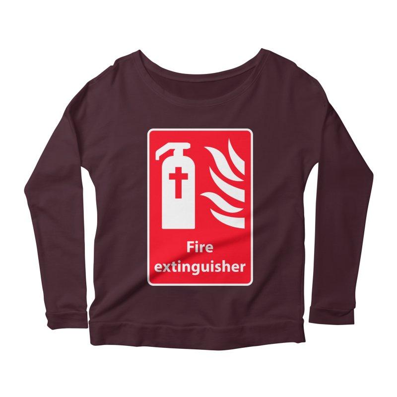 Fire Extinguisher For Hell Women's Scoop Neck Longsleeve T-Shirt by Kelsorian T-shirt Shop