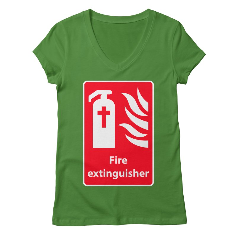 Fire Extinguisher For Hell Women's Regular V-Neck by Kelsorian T-shirt Shop