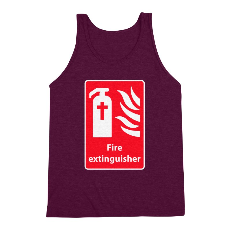 Fire Extinguisher For Hell Men's Triblend Tank by Kelsorian T-shirt Shop