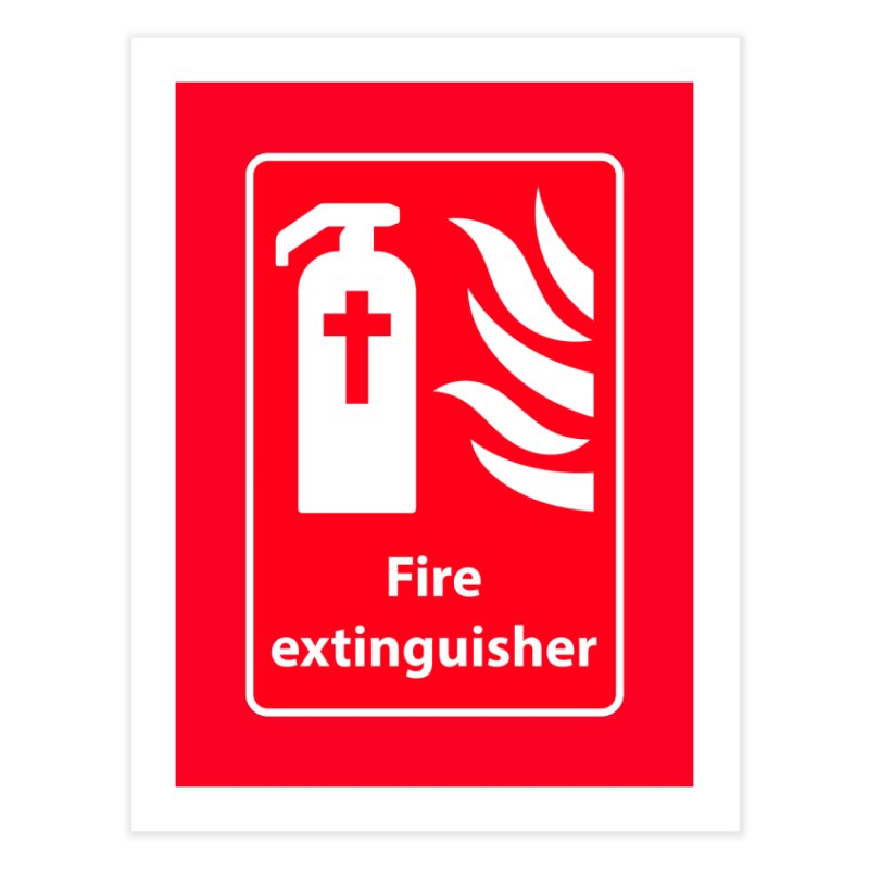 Fire Extinguisher For Hell Home Fine Art Print by Kelsorian T-shirt Shop