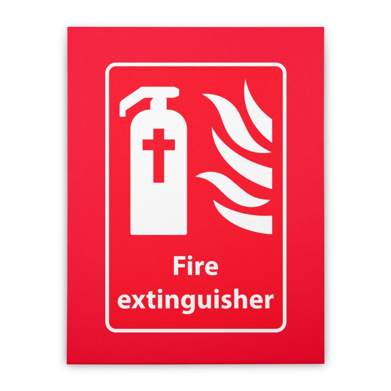 Fire Extinguisher For Hell Home Stretched Canvas by Kelsorian T-shirt Shop