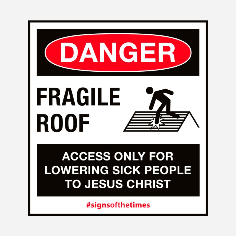 Fragile Roof for Jesus Women's V-Neck by Kelsorian T-shirt Shop