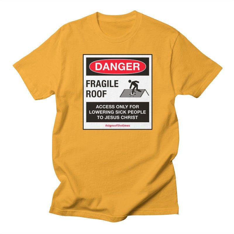 Fragile Roof for Jesus Men's T-Shirt by Kelsorian T-shirt Shop