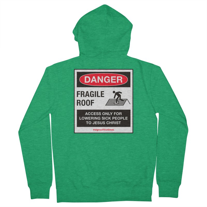 Fragile Roof for Jesus Men's French Terry Zip-Up Hoody by Kelsorian T-shirt Shop