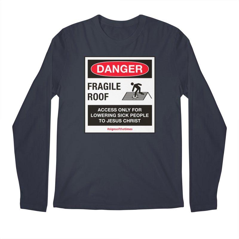Fragile Roof for Jesus Men's Regular Longsleeve T-Shirt by Kelsorian T-shirt Shop