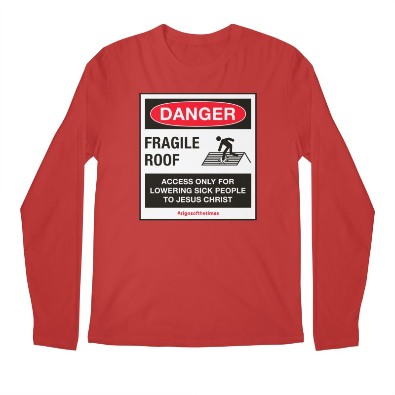 Fragile Roof for Jesus Men's Regular Longsleeve T-Shirt by Kelsorian T-shirt Shop