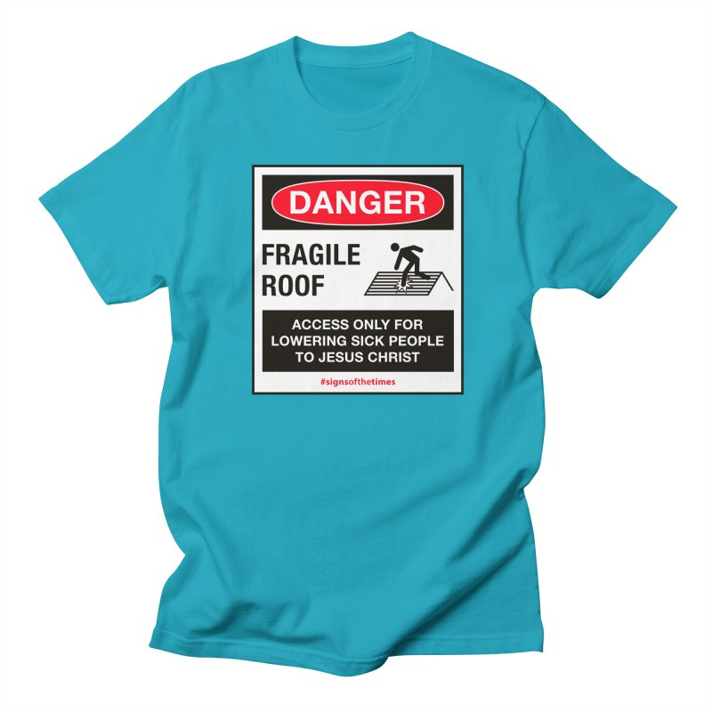 Fragile Roof for Jesus Men's Regular T-Shirt by Kelsorian T-shirt Shop
