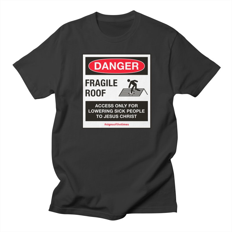 Fragile Roof for Jesus Men's Regular T-Shirt by Kelsorian T-shirt Shop