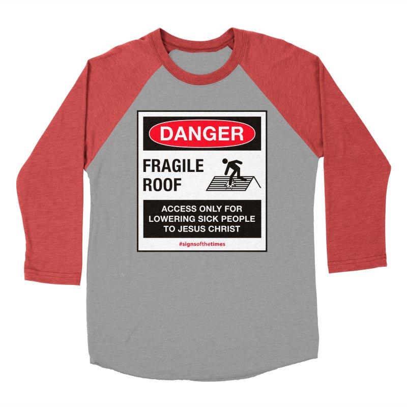 Fragile Roof for Jesus Men's Baseball Triblend T-Shirt by Kelsorian T-shirt Shop