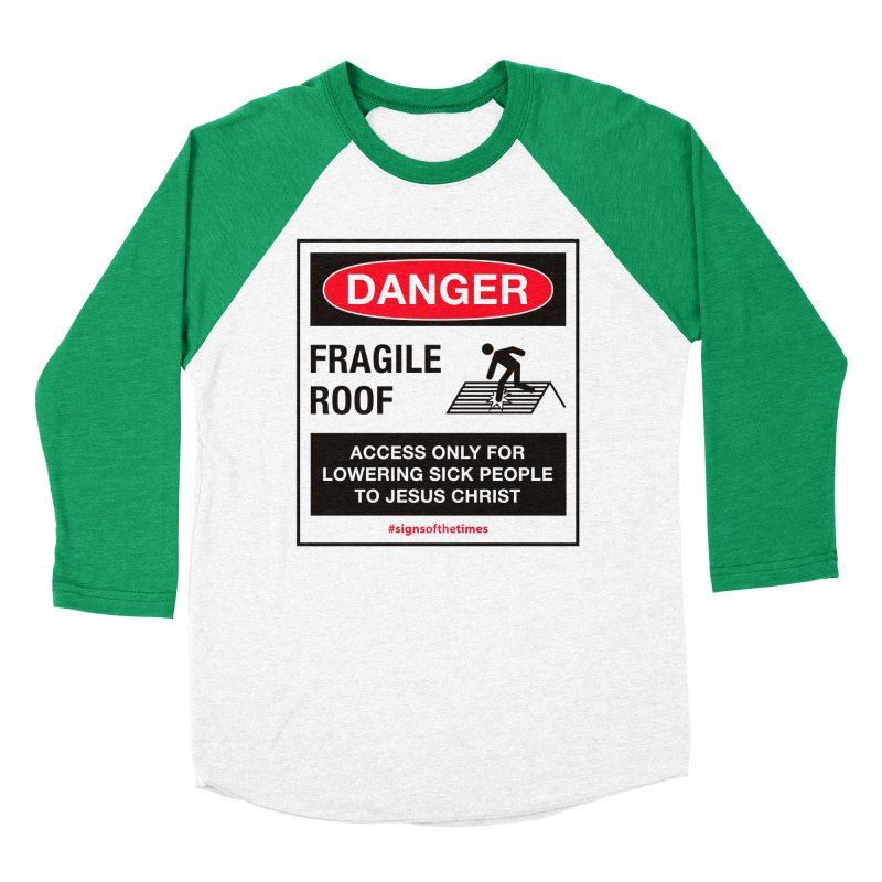 Fragile Roof for Jesus Men's Baseball Triblend Longsleeve T-Shirt by Kelsorian T-shirt Shop