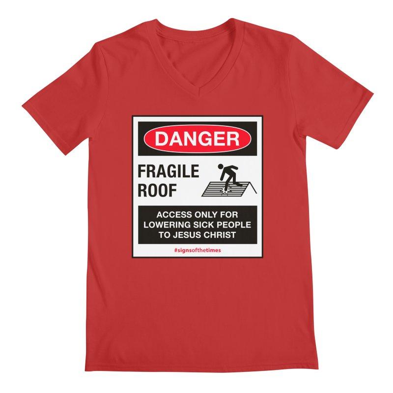 Fragile Roof for Jesus Men's Regular V-Neck by Kelsorian T-shirt Shop