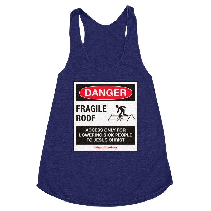 Fragile Roof for Jesus Women's Racerback Triblend Tank by Kelsorian T-shirt Shop