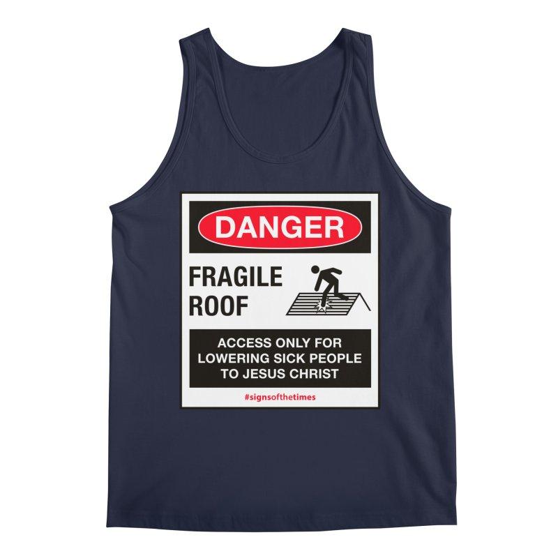 Fragile Roof for Jesus Men's Regular Tank by Kelsorian T-shirt Shop