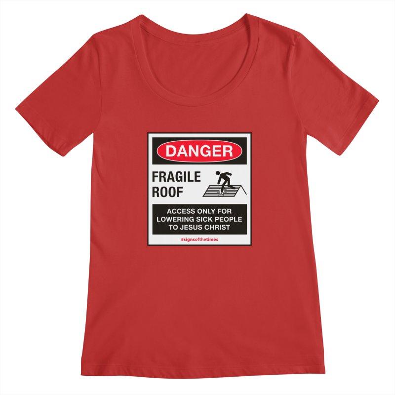 Fragile Roof for Jesus Women's Regular Scoop Neck by Kelsorian T-shirt Shop