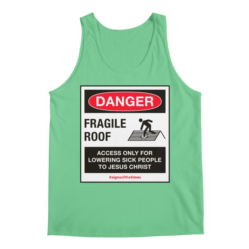 Fragile Roof for Jesus Men's Regular Tank by Kelsorian T-shirt Shop