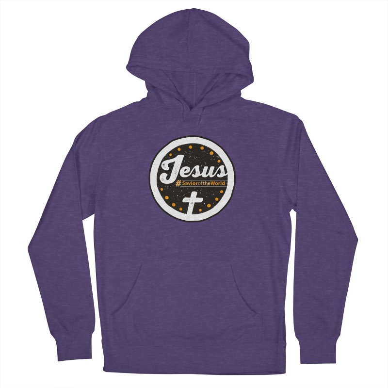 Jesus the Savior Emblem Men's French Terry Pullover Hoody by Kelsorian T-shirt Shop
