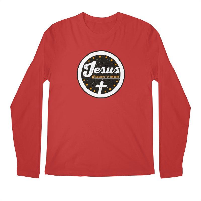 Jesus the Savior Emblem Men's Regular Longsleeve T-Shirt by Kelsorian T-shirt Shop