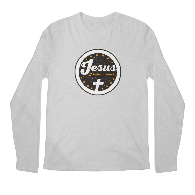 Jesus the Savior Emblem Men's Regular Longsleeve T-Shirt by Kelsorian T-shirt Shop