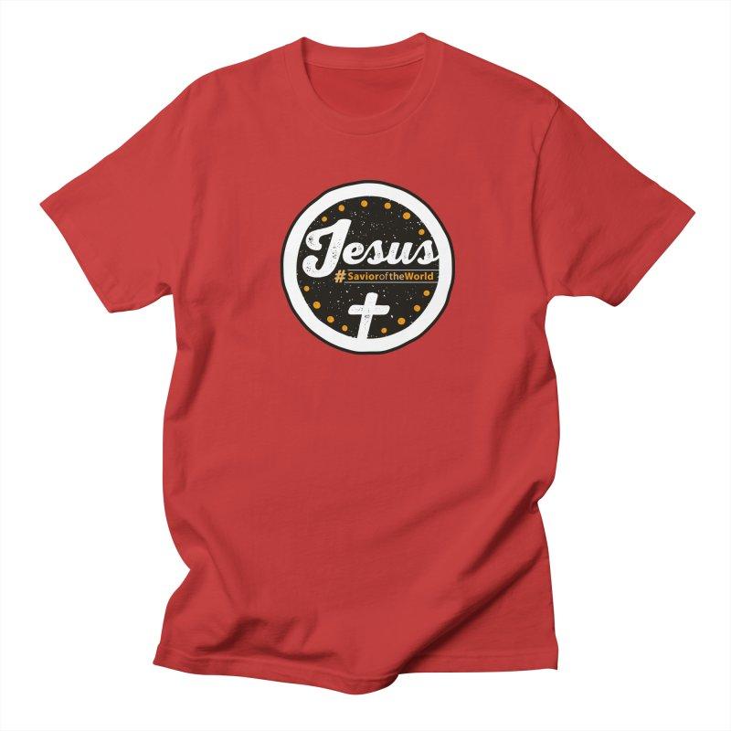 Jesus the Savior Emblem Men's  by Kelsorian T-shirt Shop