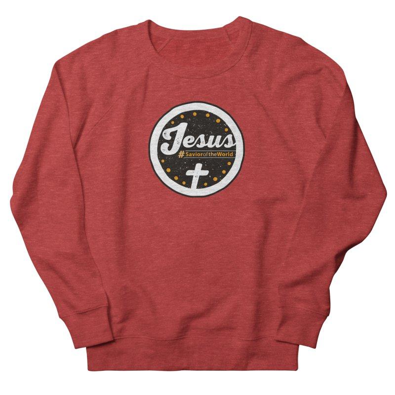Jesus the Savior Emblem Women's French Terry Sweatshirt by Kelsorian T-shirt Shop