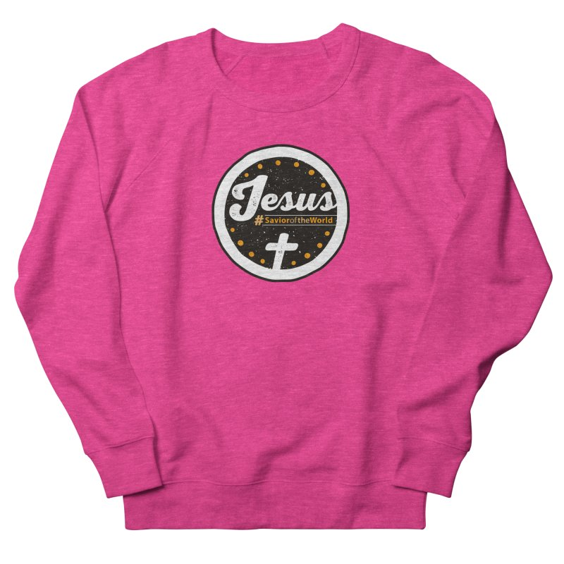 Jesus the Savior Emblem Women's French Terry Sweatshirt by Kelsorian T-shirt Shop