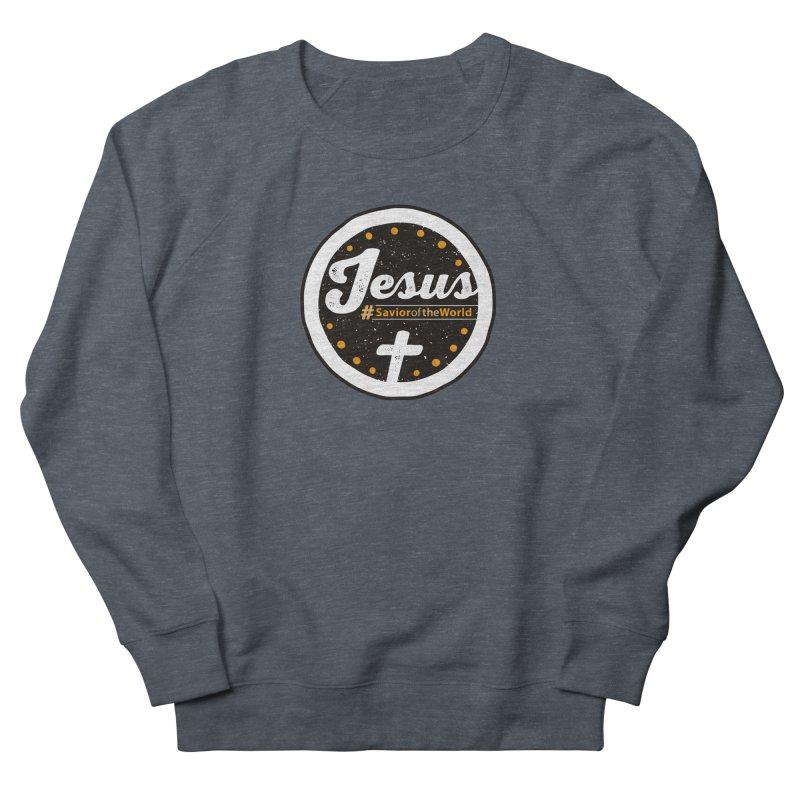 Jesus the Savior Emblem Men's French Terry Sweatshirt by Kelsorian T-shirt Shop