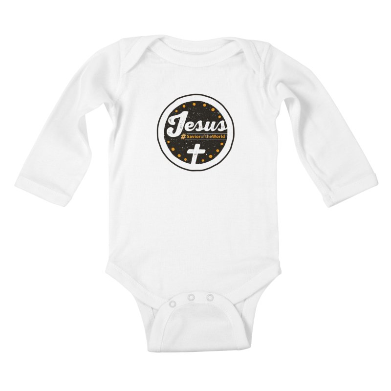Jesus the Savior Emblem Kids Baby Longsleeve Bodysuit by Kelsorian T-shirt Shop